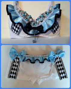 85Hey, I found this really awesome Etsy listing at https://www.etsy.com/listing/218914205/alice-in-wonderland-rave-bra-outfit