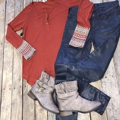 """#NEWARRIVALS  #Multiprint #Top $34.99 S-L #BigStar #Alex #SkinnyJeans $119.99 24-33 #Booties $34.99 We #ship! Call to order! 903.322.4316 #shopdcs #goshopdcs #instashop #love #shopfall"" Photo taken by @daviscountrystore on Instagram, pinned via the InstaPin iOS App! http://www.instapinapp.com (10/09/2015)"