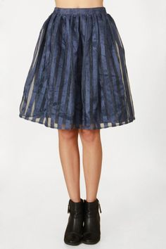 Blue Stripes Skirt