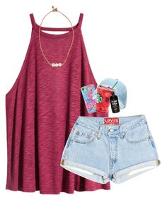 """""""Good night from Mexico!"""" by artsydoglovergabs ❤ liked on Polyvore featuring H&M, Lead and Lilly Pulitzer"""