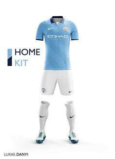 I designed football kits for Manchester City for the upcoming season 16/17.And I use the new logo.