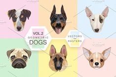 Geometric dogs vol.2 by Polar Vectors on @creativemarket