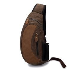 Castle Rock Fashion Canvas and pull-up Leather Shoulder Bag Traveling Bags Chest Pack -- Click image for more details. (This is an Amazon Affiliate link and I receive a commission for the sales)