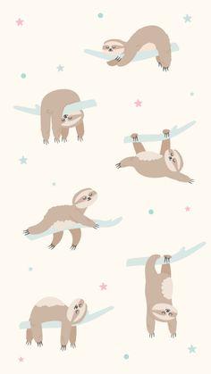 47 ideas wallpaper iphone cartoon kawaii people for 2019 Tier Wallpaper, Iphone Background Wallpaper, Animal Wallpaper, Aesthetic Iphone Wallpaper, Cute Disney Wallpaper, Cute Cartoon Wallpapers, Wallpaper Kawaii, Cute Sloth Pictures, Sloth Drawing