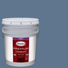 Glidden Premium 5 gal. #HDGB57U Soft Cloud Blue Eggshell Interior Paint with Primer-HDGB57UP-05EN - The Home Depot