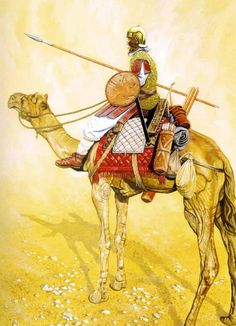 The Haradrim were a fierce warrior people who lived in the hot desert areas of Southern Middle-earth. They were the perennial foes of Gondor and the land of Harondor; their common frontier was a scene of almost continual strife. They were ready allies of the Dark Lord in the war of the Ring and contributed much of his most effective forces. The Haradrim would have deployed several kinds of camel mounted units, both light skirmishers and medium cavalry.