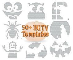 HGTV Pumpkin Templates