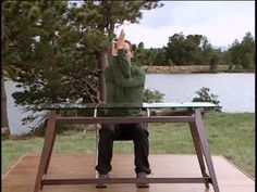 Yoga teacher Rodney Yee walks you through a 4-minute routine for stretching your neck and shoulders at your desk. This is a great soltuion for office-workers short on time and long on stiff muscles. From: http://www.gaiam.com/category/wellness-clinic/pain-relief-back-care.do