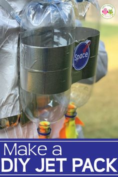 This DIY jet pack will be perfect for your space-themed dramatic play area. Learn how to easily make a jet pack with a few inexpensive supplies. Astronaut Diy, Diy Astronaut Costume, Dress Up Area, Kids Dress Up, Dramatic Play Area, Dramatic Play Centers, Space Preschool, Preschool Themes, Playroom Design