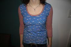 Shirt Michi nach Schnitt von Schnittgeflüster unifarbener und gemusteter Jersey von Lillestoff