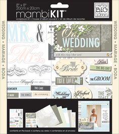 8� x 8� Scrapbook Kit - Our Wedding