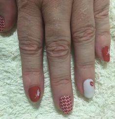 Jamberry Valentine's Day 2016 Limited Edition wrap - Love Potion with Trushine gel over the top.