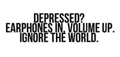 so true.  earphones in, volume up #music #cures