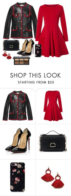 """""""don't cha by pussycat dolls"""" by pixienathalie ❤ liked on Polyvore featuring Gucci, WithChic, Christian Louboutin and Sole Society"""