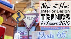 New at Hm: Interior Design Trends for Summer 2015 #route66 #roadtrip #cars #classiccars #design #designtrends #homedecor #interiordesign