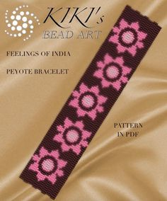 Pattern peyote bracelet Feelings of India peyote por KikisBeadArts