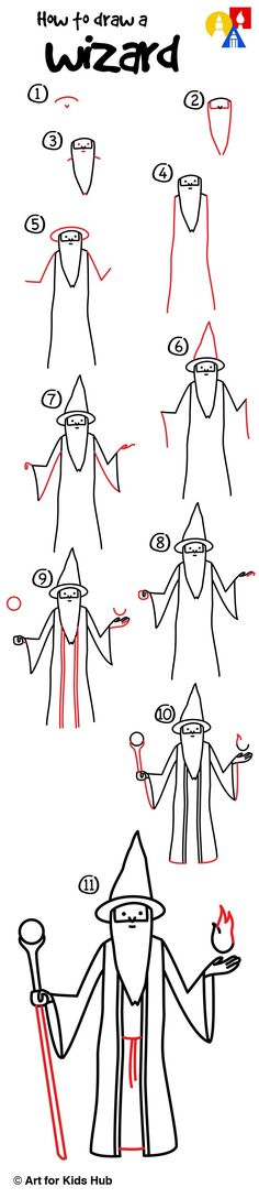 Learn how to draw a wizard!