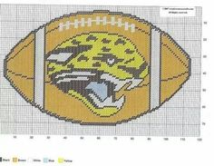 JACKSONVILLE JAGUARS FOOTBALL WALL HANGING by CREATIVECANVASCRAFTS.COM