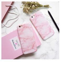 Le plus chaud Brillant Granit Rose Marbre Téléphone Case pour iphone 6s 6 6 Plus 6 + 7 7 Plus Souple TPU de Fon De Silicium Cas de Couverture Arrière