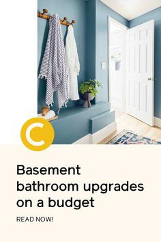 Searching for affordable bathroom ideas? Use this makeover for inspiration, featuring our denim blue paint color, Good Jeans!