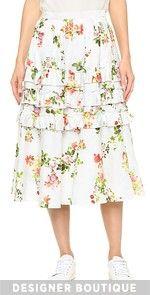 Mid Calf / Tea High Waisted Skirts