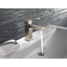 Delta Ara Single Hole Single-Handle Bathroom Faucet in Stainless-567LF-SSPP - The Home Depot