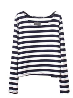 To find out about the Black White Striped Long Sleeve Crop T-Shirt at SHEIN, part of our latest T-Shirts ready to shop online today! Style Outfits, Mode Outfits, Fashion Outfits, Womens Fashion, Mode Style, Style Me, Navy Style, Estilo Navy, Black White Stripes