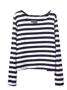 Latest Striped O Neck Modal Long Sleeve T Shirts