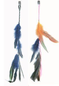 """2 X Real Natural Feather Hair Extensions Grizzly Hair Extension Clip in on Beauty Salon Supply Wholesale Lot New by opt. $5.99. 2 X Real Natural Dyed Grizzly Feather Hair Extensions Clip In On Beauty Salon Supply Wholesale Lot New. Length: about 14"""" (35cm). Material:  Real Natural Feather. Package Includes: 2 pieces dyed Natural  Feathers hair extensions.. User Friendly: Make your own hair style.. Real Natural Feather Hair Extensions  Clip In On . Make your own hai..."""