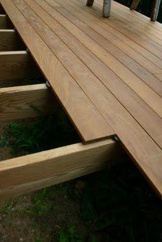 Terras van Ipe hout (ook wel Surinaams Groenhart genoemd)