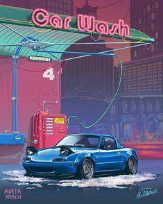 TopMiata on Instagram - Mazda Miata MX-5 - TopMiata Tuner Cars, Jdm Cars, Miata Mods, Car Wash Services, Jdm Wallpaper, Mazda Miata, Car Illustration, Car Drawings, Japanese Cars