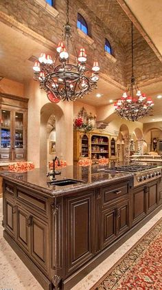 Incredible custom designed kitchen....