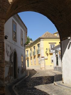 Street in Old Faro, Portugal