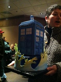 Chelle Baldwin made an amazing Tardis Cake/Dr. Who for Alexis's 18th Birthday!