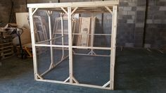 Handcrafted Chicken walk in run with solid run, Handmade by Boyles pet housing