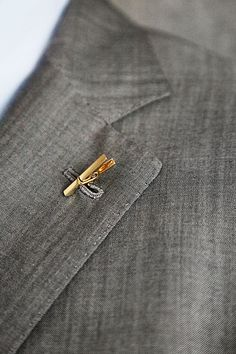 Clothespin lapel pin