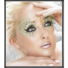 Gorgeous runway makeup look created by Pat McGrath for the John Galliano Show. Makeup Inspiration for a Costume Party. Makeup inspiration for Halloween. John Galliano zombie makeup look. Fairy Makeup, Makeup Art, Eye Makeup, Makeup Ideas, Alien Makeup, Makeup Tricks, Halloween Make Up, Halloween Face Makeup, Halloween Fairy