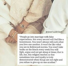 Advice for couples: Love & loyalty r demonstrated when things r not right & u still refuse to give up! Islamic Quotes On Marriage, Muslim Couple Quotes, Islam Marriage, Muslim Love Quotes, Love In Islam, Islamic Love Quotes, Islamic Inspirational Quotes, Religious Quotes, Hadith