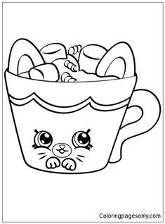 Hot Choc Petkins Shopkins Coloring Page