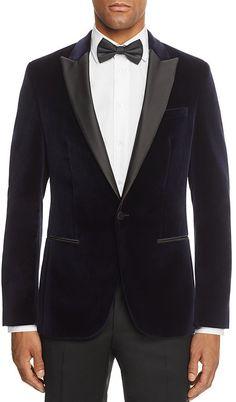 HUGO C-Hadley Velvet Slim Fit Tuxedo Jacket Slim Fit Tuxedo, Tuxedo For Men, Affordable Suits, Cheap Suits For Men, Suit Fashion, Mens Fashion, Tuxedo Jacket, Jacket Men, Modi Jacket
