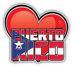 Puerto Rico Art Heart Flag Travel Slogan Car Bumper Sticker Decal x Travel Slogans, Puerto Rico, Car Bumper Stickers, Mario, Decal, Pride, Flag, Heart, Awesome