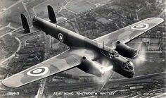 Fine Art Print-Armstrong Whitworth Whitley Fine Art Print on Paper made in the UK Air Fighter, Fighter Jets, Ww2 Photos, Ww2 Aircraft, Aircraft Pictures, Royal Air Force, World War Two, Vintage Postcards, Photo Library