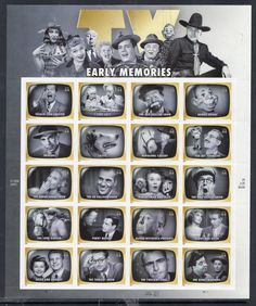 """""""TV SHOW MEMORIES Decorative Sheet of 20 44c Stamps Lucy Howdy Dragnet Lassie- Fresh Bright Usa Stamps Vintage 2009 Stock# 4414 Shipping upgrades are available. Please search \""""FOREVERstampsAndMORE upgrades.\"""" Free USA Shipping"""" Rockabilly, Rock And Roll, Vintage Television, The Lone Ranger, Old Shows, Vintage Tv, Vintage Stuff, Tv Guide, Old Tv"""