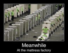 Meanwhile in the matress factory