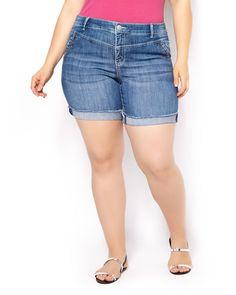 Studded Denim Short