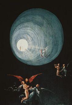 Jerónimo Bosch o El Bosco - Ascenso del bendito al Paraíso (cuatro representaciones de esta obra)