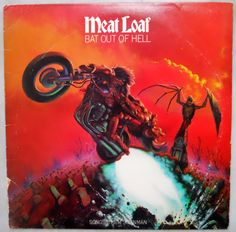 """1970's""  "" Meatloaf "" Bat Out Of Hell Record Album"