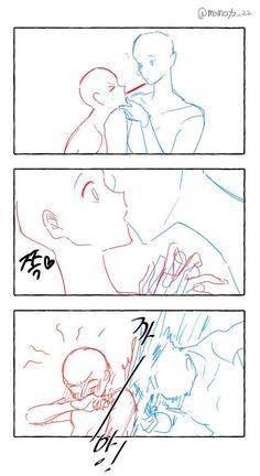 Ship Drawing, Comic Drawing, Drawing Base, Anime Drawings Sketches, Cute Drawings, Drawing Templates, Drawing Reference Poses, Couple Poses Reference, Hand Reference
