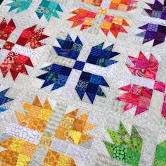 Wendy's quilts and more: Scrappy Bear Paw is finished!