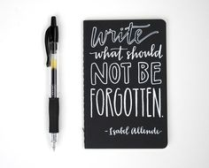 perfect quote for a journal filled with your stories :: Hand-Lettered Pocket Moleskine by Sparrow Nest Script